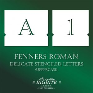 Stenciled Letters – Delicate Font Fenners Roman Uppercase #071