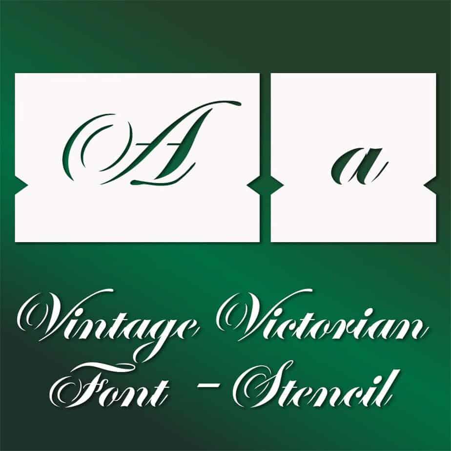 vintage victorian decorative font stencil