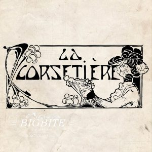 Art Deco Print Transfer: 'La Corsetier' Corset Maker Advert #075