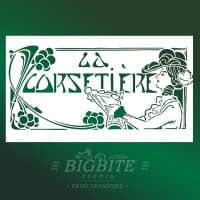 Art Deco Stencil: 'La Corsetiere' Corset Maker Advert - main image