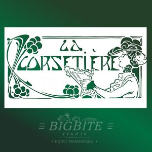Art Deco Stencil: 'La Corsetiere' Corset Maker Advert #075