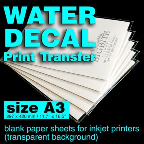 Main image of Blank Water Decal Paper Sheets for Shabby Chic Print Transfers (size A3)