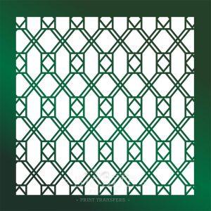 Decor Pattern Stencil: Window Glass Trellis 02 #067
