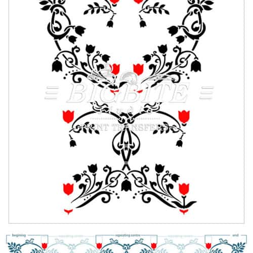 Floral Heart Pattern Decorative Stencil