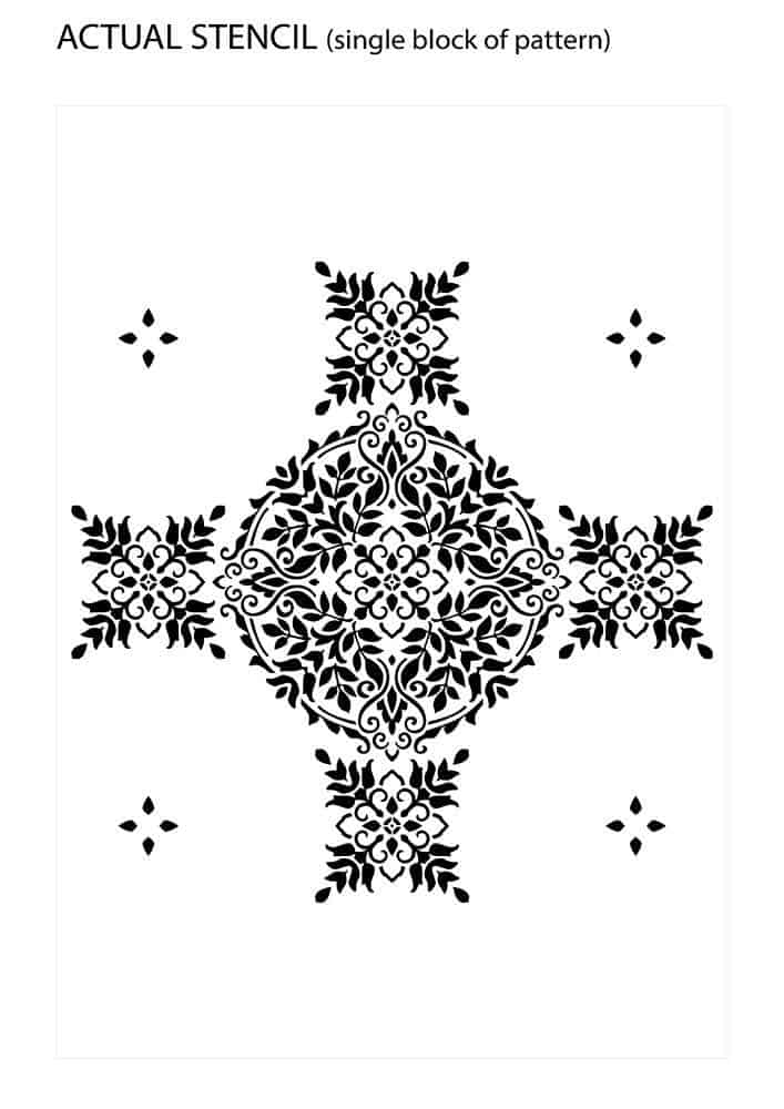 Actual Design of Floral Mandala Stencil Pattern