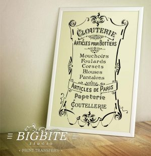 Preview of French Stencil Articles de Paris - Clouterie Advert (frame)