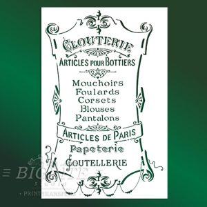 French Stencil Articles de Paris – Clouterie Advert #022