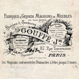 Water Decal Print Transfer – Vintage French Gouffe Fabrique Advert #063