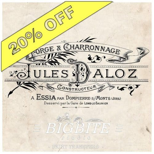 Julez Daloz Smithy - Vintage French Image Transfer - 20% discount