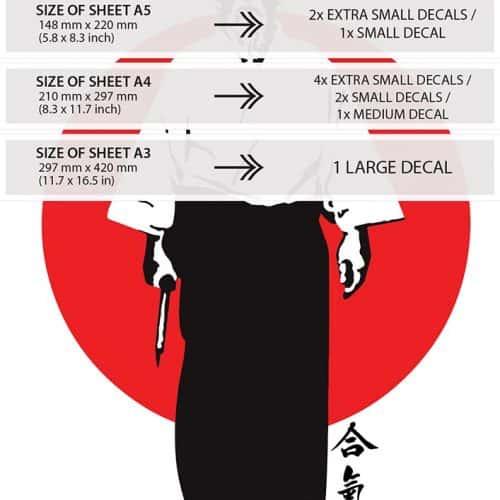 Oriental Transfer - Aikido Founder, Morihei Ueshiba - sizes