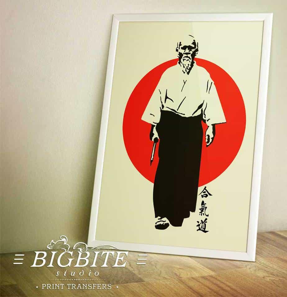 Oriental Transfer - Aikido Founder, Morihei Ueshiba - preview in a frame