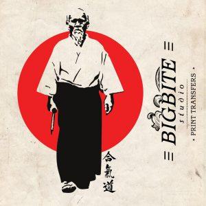 Oriental Water Decal – Martial Arts Aikido Founder Morihei Ueshiba #086