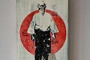 PVA glue print transfer - Morihei Ueshiba, Aikido Founder
