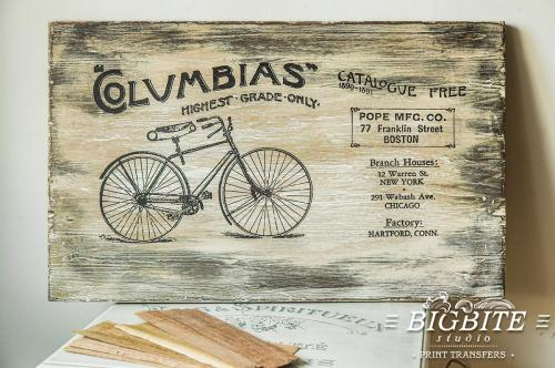 Screen printing:Columbias Bicycles