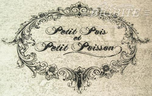 Screen printing:Flower Frame:Petit Pois et Petit Poisson