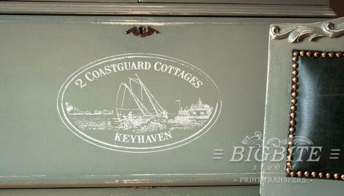 Screen printing:Keyhaven:Holiday cottage to let