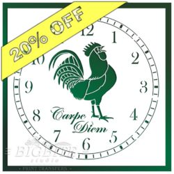 Main image of Rooster CLock Face Stencil with 20 percent discount offer