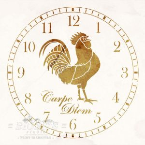 Preview of Rooster CLock Face Stencil (old papper)
