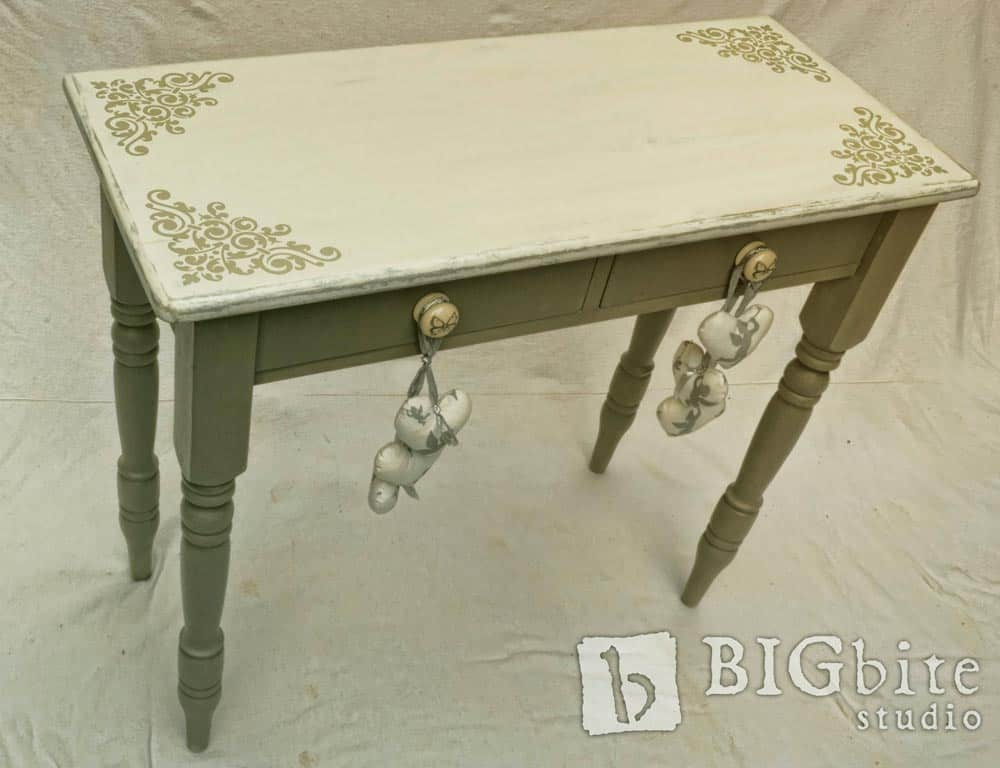 Shabby chic stencil vintage corner scroll furniture for Furniture transfers