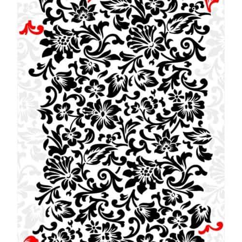 Vintage Italian Floral Wallpaper Pattern - Stencil 01