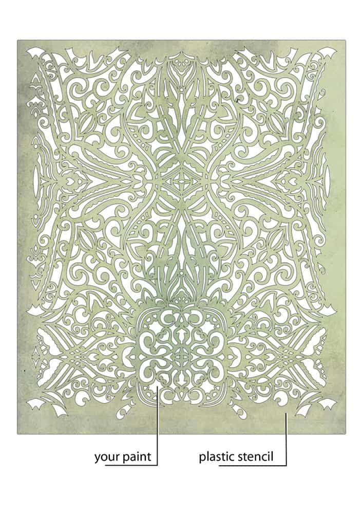 shabby chic trellis pattern