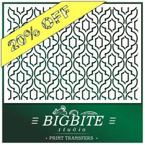 Simple Weave Geometric Pattern Wallpaper Stencil #057