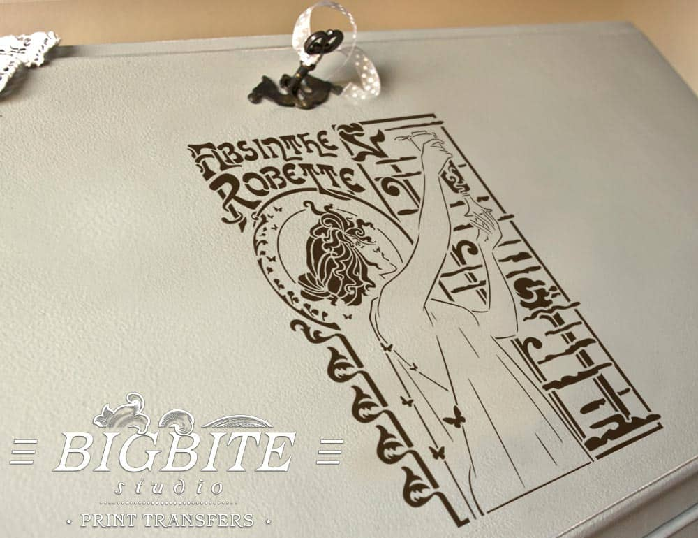 preview of Vintage Art Deco Stencil - Absinthe Robette Advert