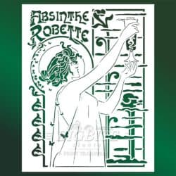 main image of Vintage Art Deco Stencil - Absinthe Robette Advert