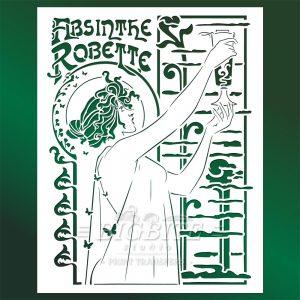 Vintage Art Deco Stencil – Absinthe Robette Advert #076