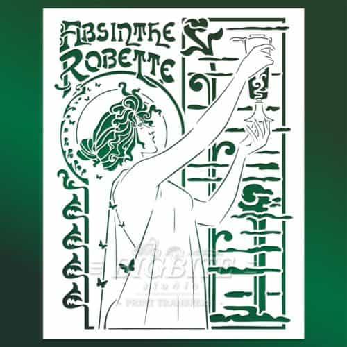 main image of Vintage Art Deco Stencil - Absinthe Robette Advert