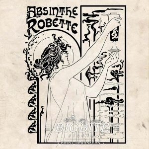 Vintage Art Deco Water Decal – Absinthe Robette Advert #076