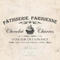 Main image of VIntage French Water Decal - Patisserie Parisienne