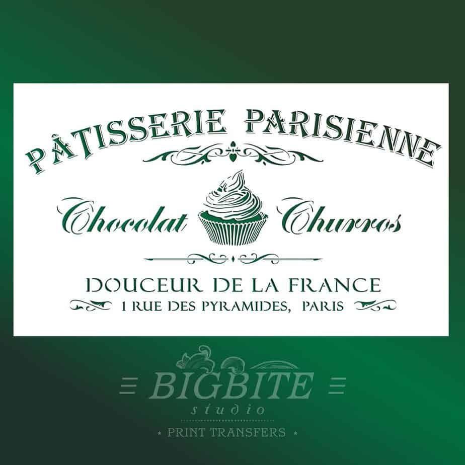 Main image of a Vintage stencil French Patisserie Advert