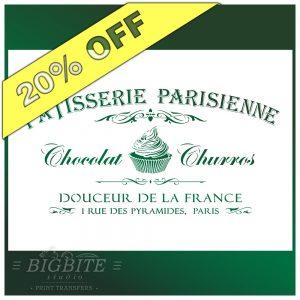 Vintage Stencil French Patisserie Advert #077
