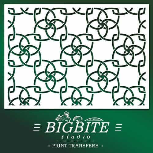 shabby chic stencil walpaper pattern - main image