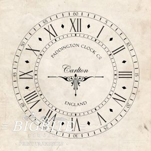Water Decal Print Transfer – Old Clock Face #068
