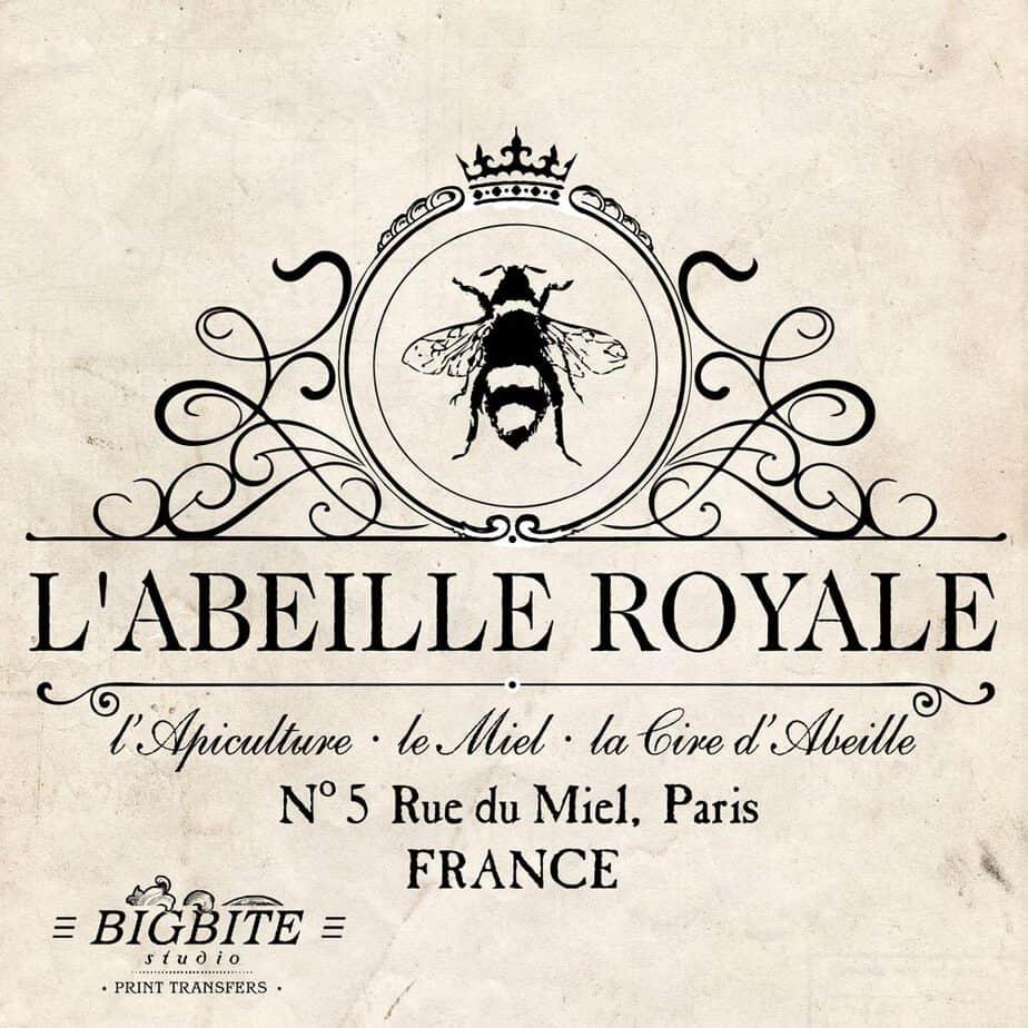 Water Decal Print Transfer Vintage French Advert Royal Beekeeper 029