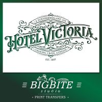 Vintage Hotel Victoria Stenciled Advert - main preview