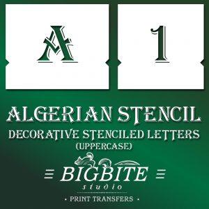 Algerian Stencil Font – Decorative Uppercase Letters