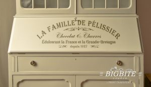 Algerian Stencil Font - lowercase and UPPERCASE Vintage Lettering