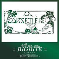 Art Deco Stencil La Corsetiere Corset Maker Advert