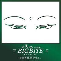 Buddha's Loving Eyes Oriental Stencil
