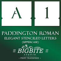 Elegant Stenciled Letters – Font Paddington Roman Uppercase