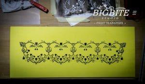 Floral Heart Decorative Pattern Stencil