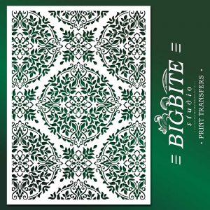 Floral Mandala Stencil Pattern