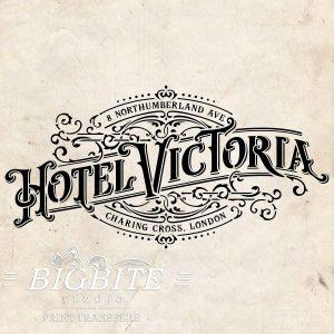 Water Slide Decal: Hotel Victoria Vintage Logo