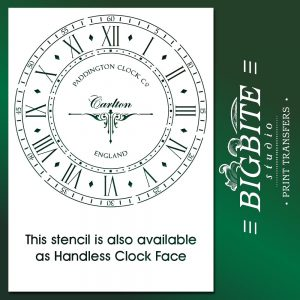 Old Paddington Clock Face Handless: Vintage Stencil