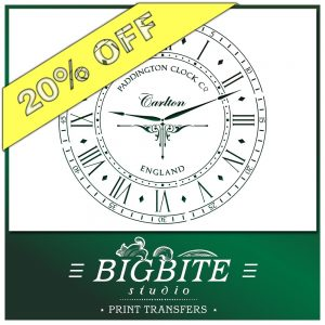 Paddington Clock Face with Hands Vintage Stencil - 20% discount