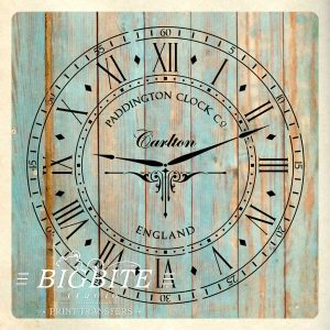 Paddington Clock Face with Hands Vintage Stencil
