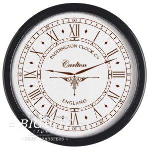 Paddington Clock Face with Hands Vintage Stencil